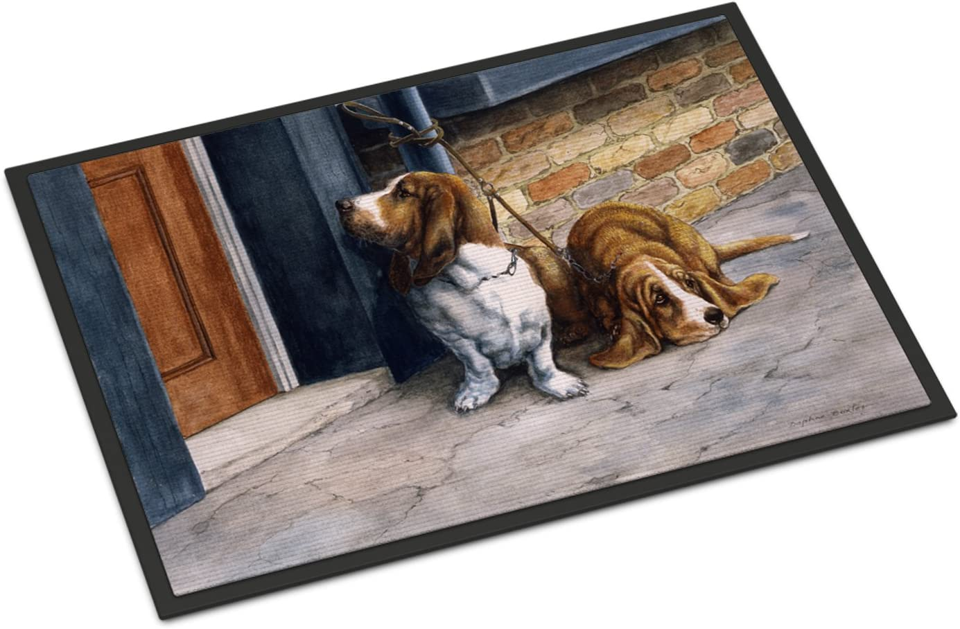Caroline's Treasures BDBA0016MAT Bassets Basset Hound Indoor or Outdoor Mat 18x27, 18H X 27W, Multicolor