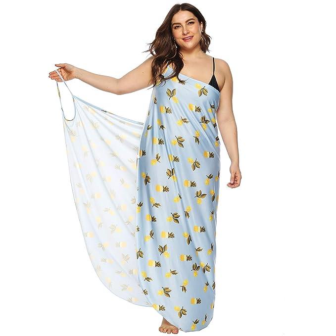 Amazon.com: AMMENGBEI vestido sexy con tirantes de espagueti ...