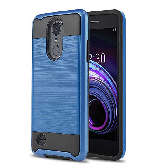 premium selection 9e873 75b54 Phone Case for [LG Rebel 4 LTE (L212VL, L211BL)], [Protech Series][Blue]  Shockproof Cover [Impact Resistant][Defender] for Rebel 4 LTE (Tracfone, ...