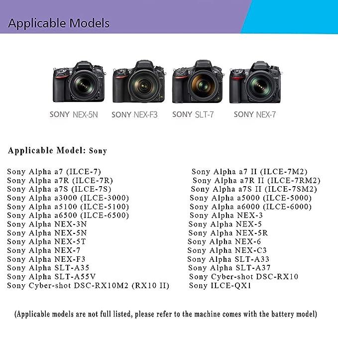 GDHOME - Cargador de batería para cámara Sony NP-FW50, Compatible ...