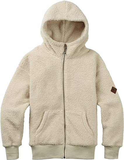 Burton Lynx Fleece Full-Zip Sudadera, Mujer, Blanco (Bone White),