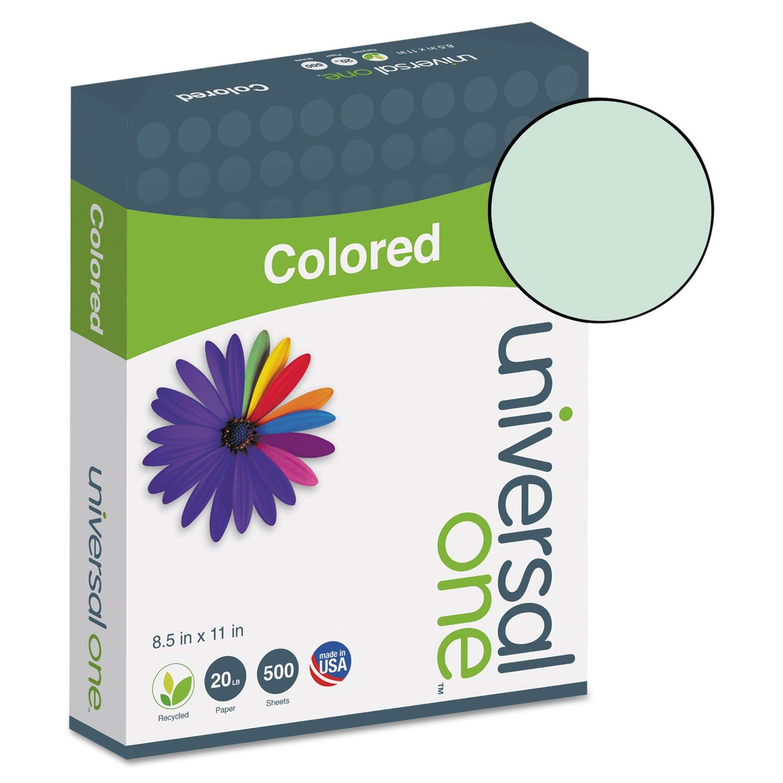 Universal 11203 - Colored Paper, 20lb, 8-1/2 x 11, Green, 500 Sheets/Ream-UNV11203