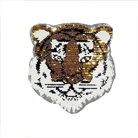 Parche reversible de lentejuelas DZL Tiger para ropa para niños ...