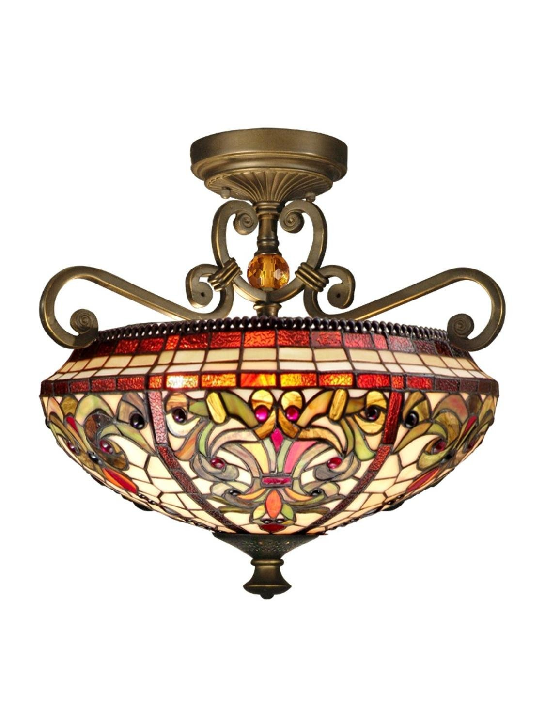 Dale tiffany th13090 baroque semi flush mount light fixture antique dale tiffany th13090 baroque semi flush mount light fixture antique golden sand close to ceiling light fixtures amazon arubaitofo Gallery