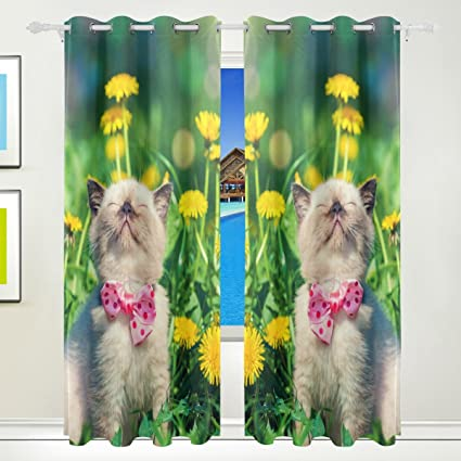 Top diente de león, carpintero de gato en flores con aislante térmico apagón ojal impreso