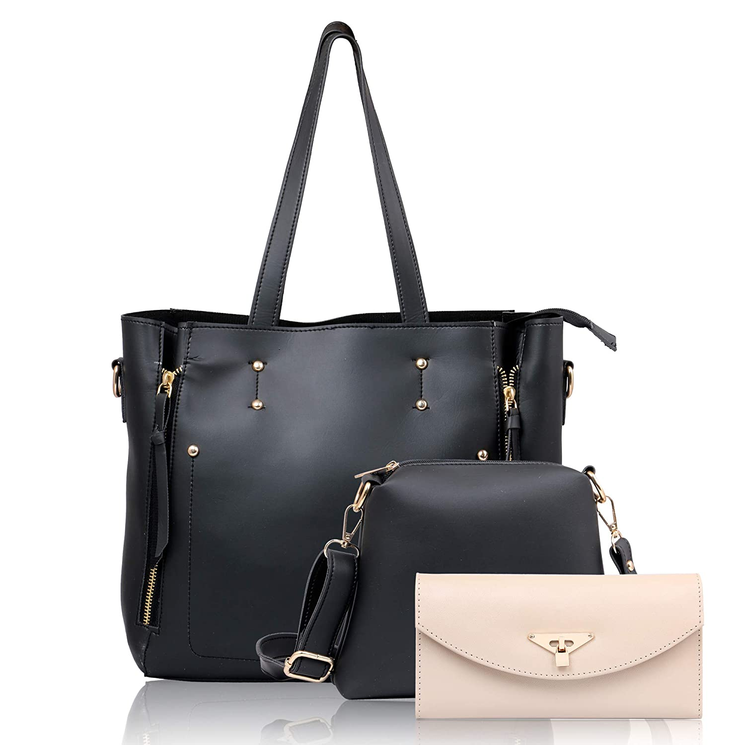 26173950e4 WOMEN MARKS (BLACK) HANDBAG (COMBO)  Amazon.in  Shoes   Handbags