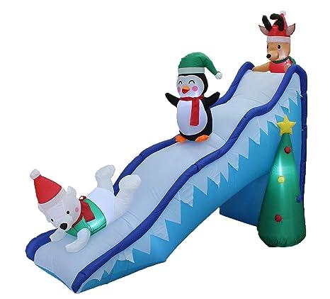 BZB Goods - Árbol de Navidad Hinchable con diseño de Reno de ...