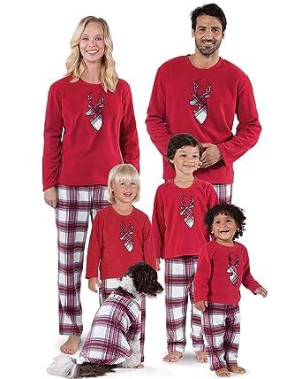 c245f3a49c YIUYIU Family Christmas Pajamas Set Matching Nightwear Loungewear for Dad  Mom Kids Baby Deer Tops and