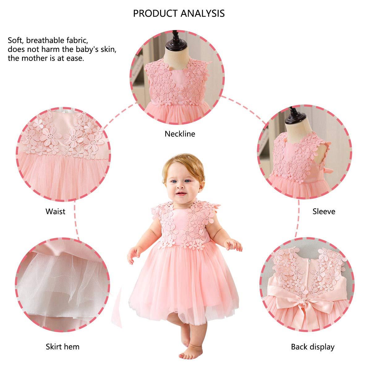 Happy Cherry Infant Toddler Girls Bouquet Dress Petal Dress Wedding Princess Pageant Dress