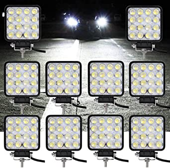 48W Arbeitsscheinwerfer LED 4X Beleuchtung Flutlicht Strahler