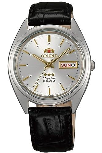 Orient Reloj Analógico para Unisex Adultos de Automático con Correa en Cuero FAB0000JW9: Amazon.es: Relojes