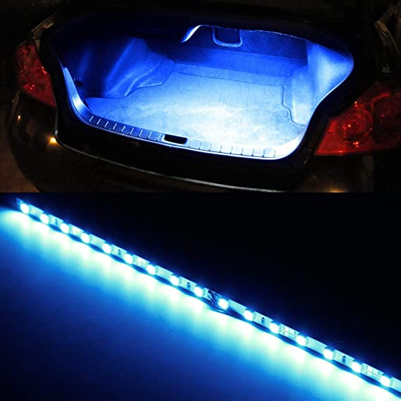 iJDMTOY (1) 18-SMD-5050 LED Strip Light Compatible With Car Trunk Cargo Area or Interior Illumination