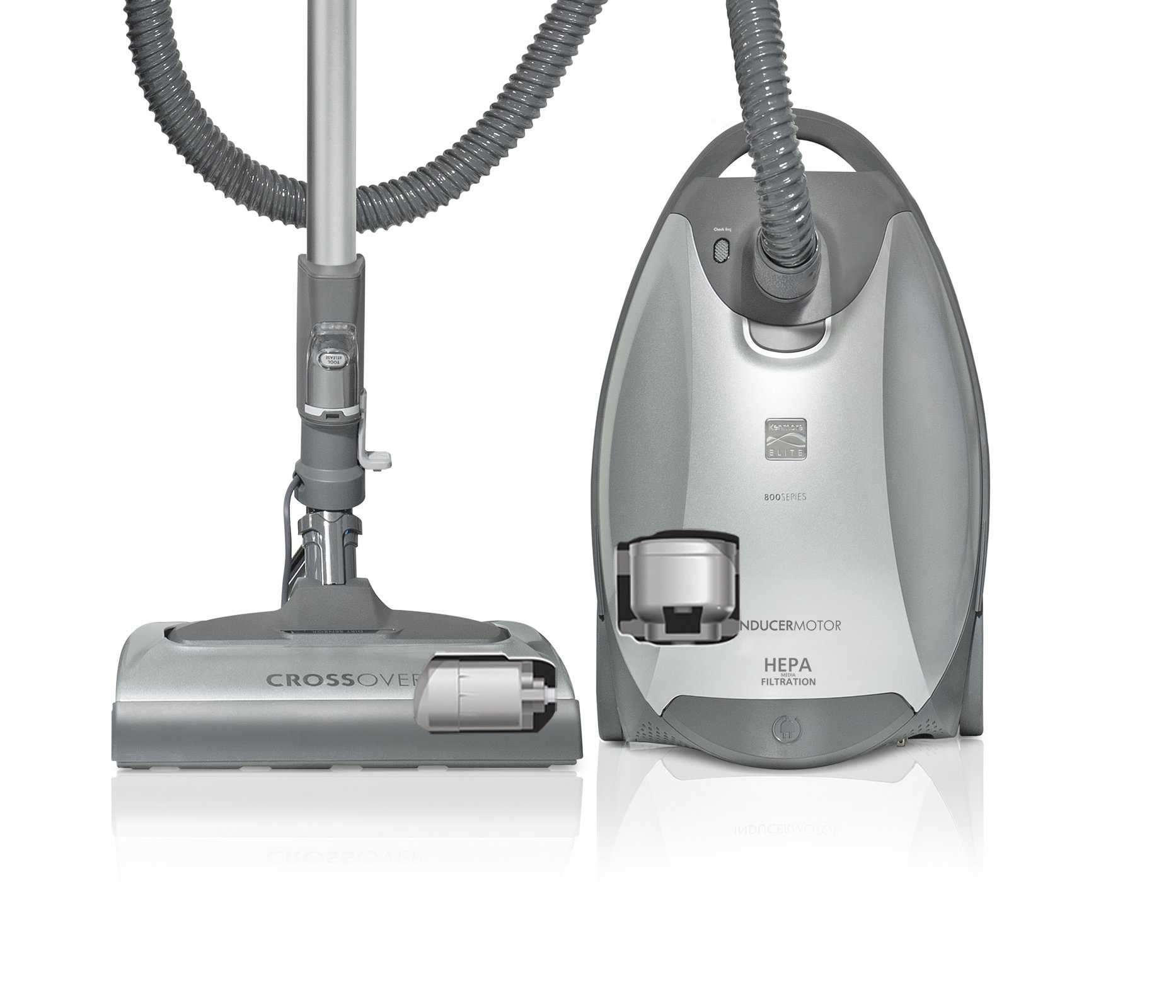 Kenmore Floorcare Elite Pet Friendly Crossover Canister Vac, Silver/Gray by Kenmore