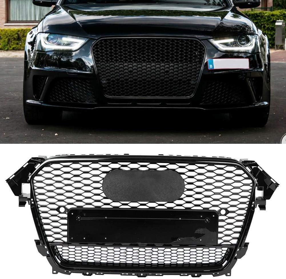 Grille de pare-chocs avant de voiture Gorger brillant de capot en nid dabeille maill/é sport hexagonal pour A4 // S4 B8.5 13-16 pour style RS4 Quattro style RS4