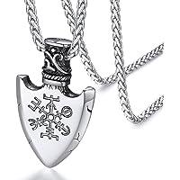 FaithHeart Brújula Valknut Collar Vikingo Nórdico Acero Inoxidable 316L para Hombres y Mujeres Joyería Morales de…