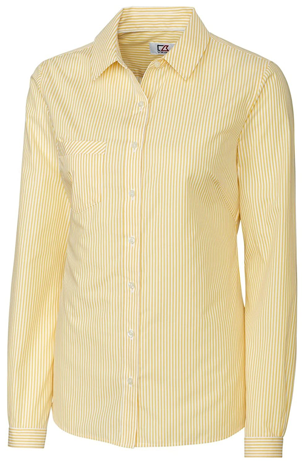 Cutter & Buck LCW04154 Womens L/S Epic Easy Care Mini Bengal Button Down Shirts