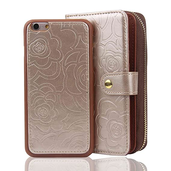 best loved 31ff4 b39aa Amazon.com: RAYTOP [Magnetic Phone Case Removable From Wallet] Flip ...