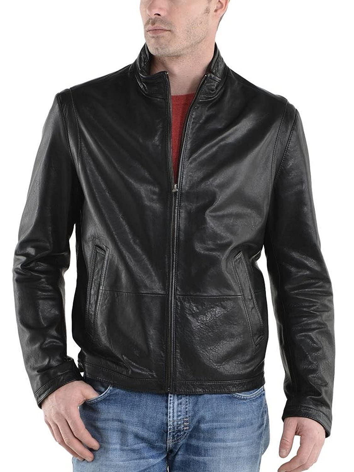 Laverapelle Men's Cow Skin Real Leather jacket Black - 1510359