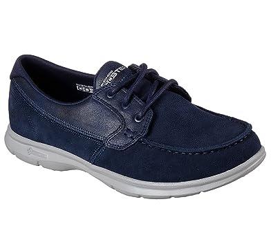 14445 Womens Go Step Stylish Shoe, Navy Canvas - 5.5 Skechers