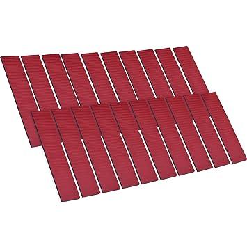 20 Piezas de Almohadillas de Espuma Adhesivas de Doble Cara para Fijar Placa de Número Placa de Licencia de Coche: Amazon.es: Coche y moto