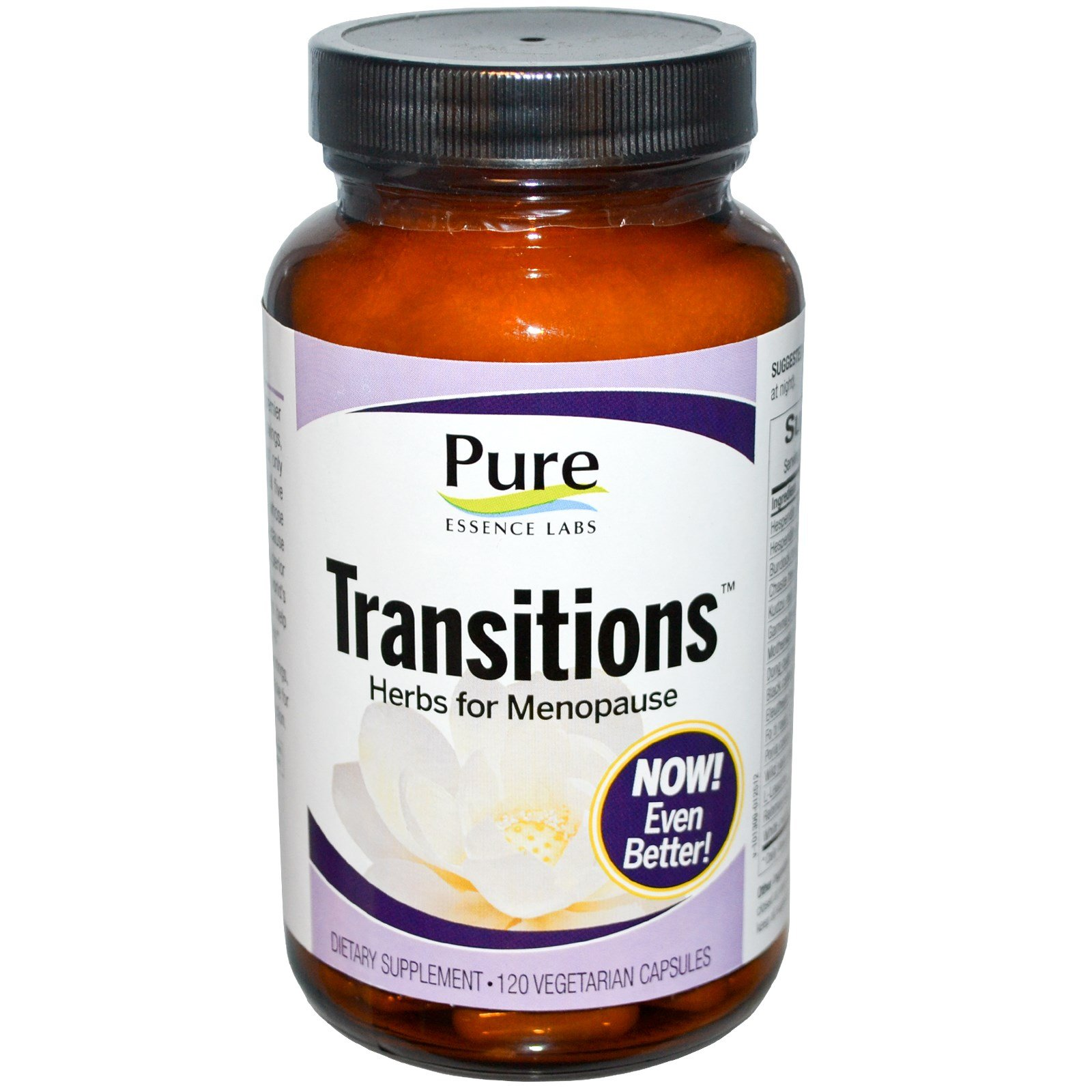 Pure Essence, Transitions, Herbs for Menopause, 120 Veggie Caps - 2pc by Pure Essence (Image #1)