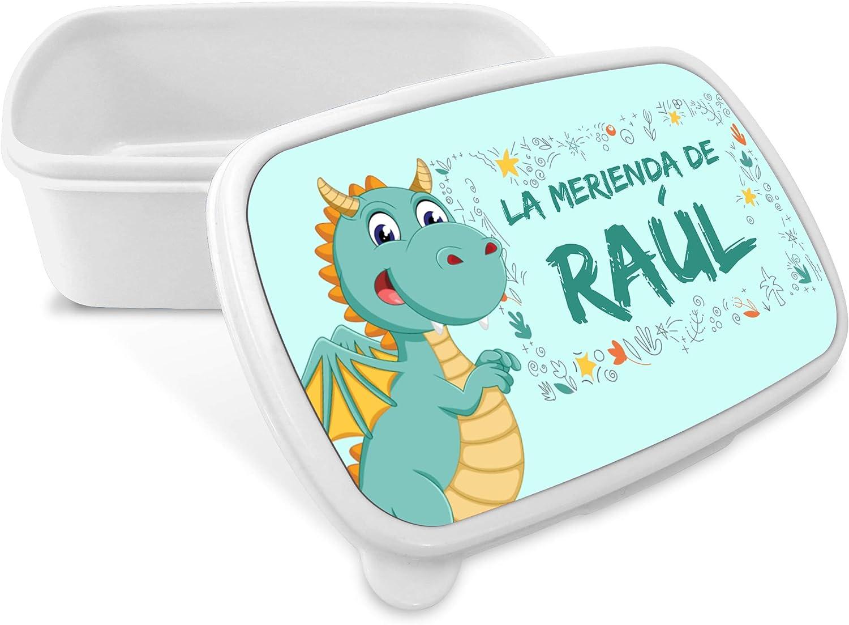 Caja de Merienda Dragón Personalizada con Nombre/Curso. Vuelta al Cole Niña Niño. Varios Diseños a Elegir. Dragón: Amazon.es: Hogar