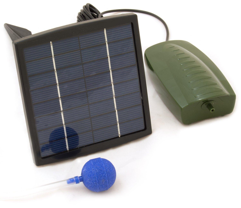Oxbridge - ossigenatore per stagno con pompa - + 1 pietra porosa - ad energia solare