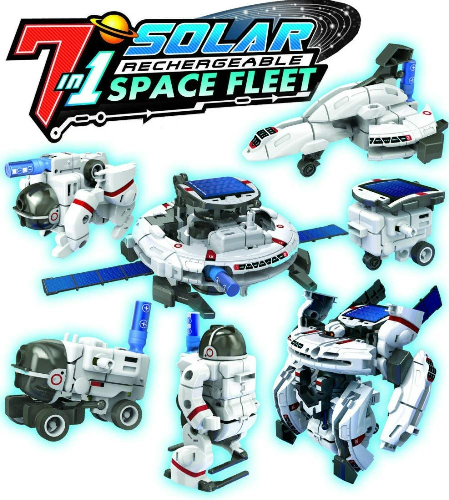 OWI Solar Space Fleet | Transform into 7 Different Space Robots | No Batteries | Solar Powered by OWI