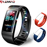 LEMFO Fitness Tracker Colour Screen Heart Rate Monitor Swimming Waterproof Activity Tracker Smartband Sleep Monitor Pedometer