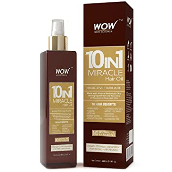 Amazon.com: WOW Miracle Aceite para el cabello – Reduce la ...
