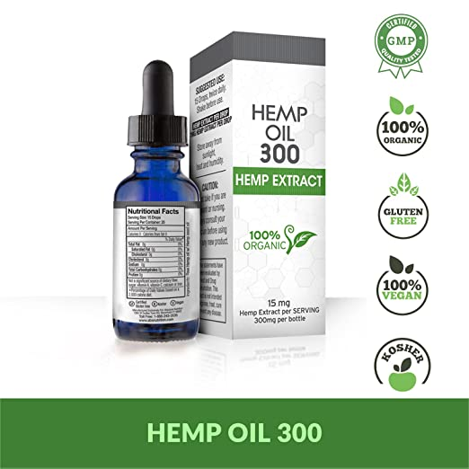 f538a29adb3e Amazon.com: Hemp Oil for Pain, Anxiety & Stress Relief - 300mg - 100% Organic  Hemp Extract Drops - Natural Anti-Inflammatory, Joint Support Helps with ...