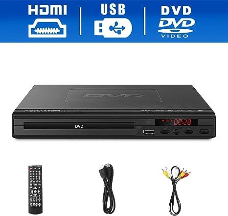 Reproductor de DVD, Reproductor de DVD Foramor HDMI para TV, 1080P ...
