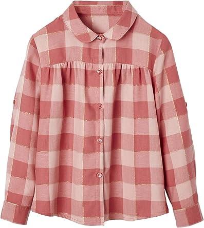VERTBAUDET Camisa a Cuadros para niña Rosa Medio A Cuadros 10A: Amazon.es: Ropa y accesorios