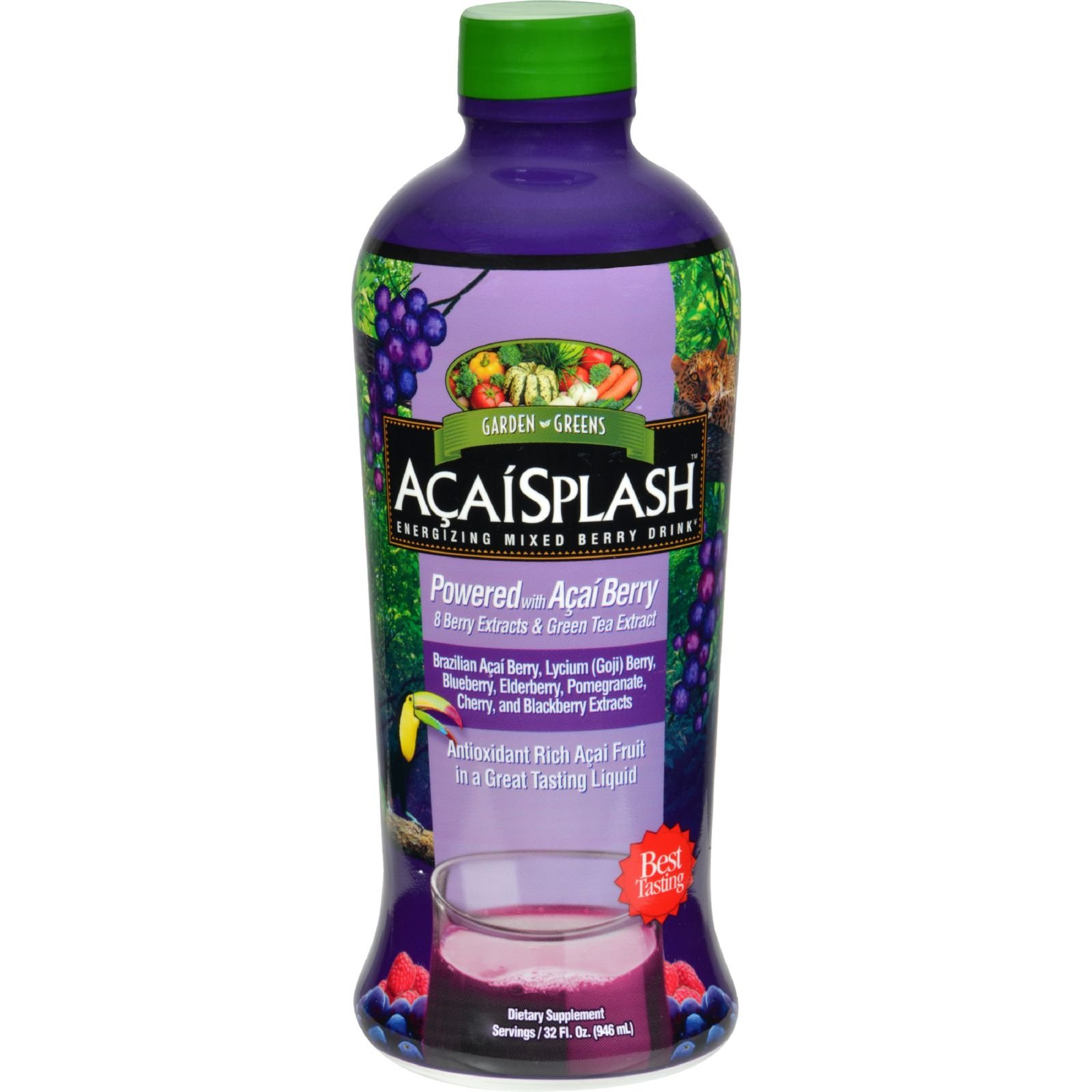 Garden Greens Acaisplash Juice Concentr 30 Fz