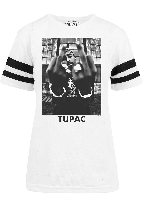 Mister Tee Damen T-Shirt 2Pac Stripes Teeshirt