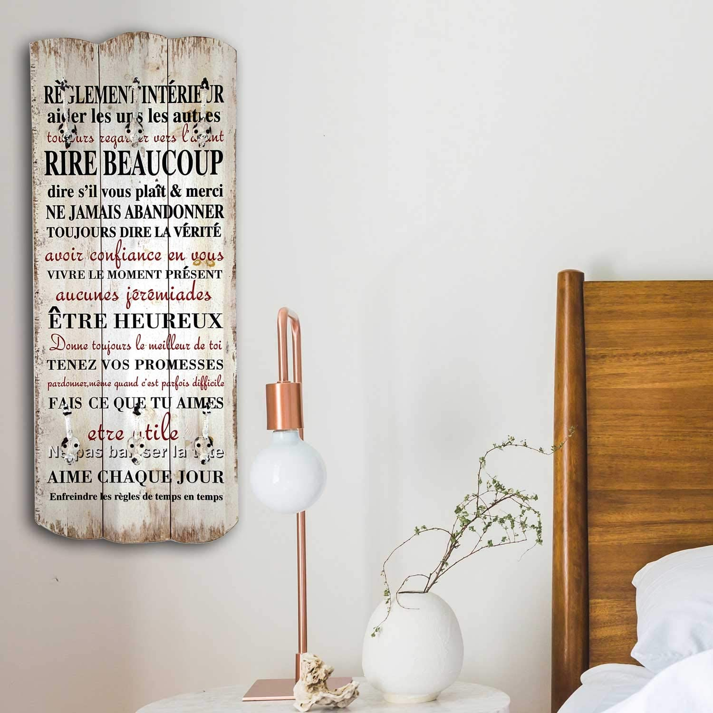 in legno anticato massiccio con 6 ganci massicci Umoi 100 x 40 cm appendiabiti da parete e da corridoio stile shabby chic modello 2019