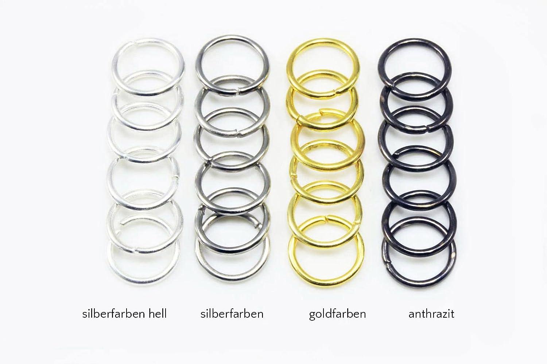 INWARIA Anneaux de reliure /Ø 20 mm 20//50//100 pi/èces Anneaux de jonction flexibles S3//20 1,2 mm 50 Stuck Goldfarben