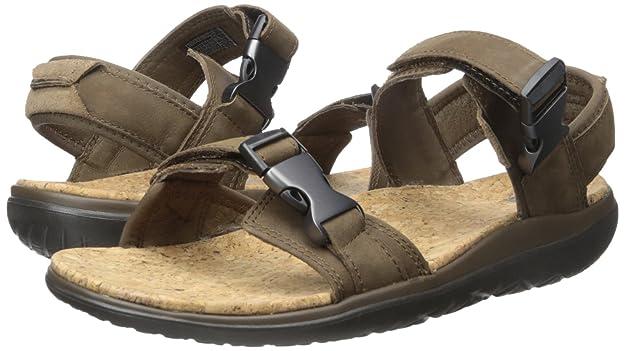 Teva Terra-Flotador Universal Lux Sandalia de Cuero de los Hombres, Brown, 42.5 D(M) EU: Amazon.es: Zapatos y complementos