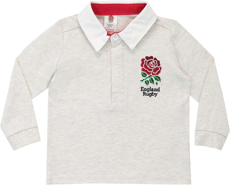 England Rugby Camiseta de Manga Larga para Niños Bebés RFU Gris 2 ...