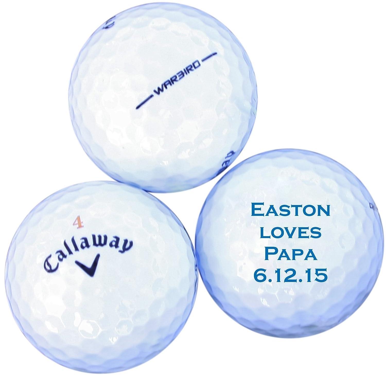 Amazon.com: (Set of 3) Custom Golf Balls - Perfect for Bachelor ...