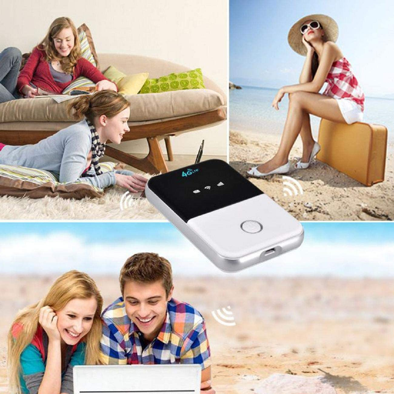 High Performance WiFi 4G Mobile WiFi Carry-on Router Vehicle On Board Mini Router Surport SIM Cinhent Mini Wireless Portable Travel Router Mobile in Pocket