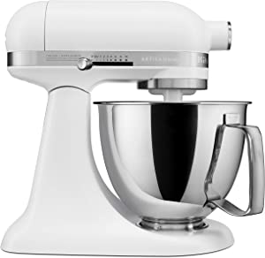 KitchenAid KSM3316XFW Artisan Mini Stand Mixers, 3.5 quart, Matte White (Renewed)