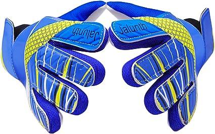 Kids Football Goal keeper Gloves with Embossed Anti-slip Latex Palm and Soft PU Hand Back Goalkeeper Goalie Gloves