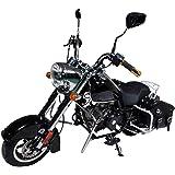 HAIGE 【営業所止め発送】ミニ アメリカンバイク クルーザーバイク 50cc 4サイクル チョッパーバイク クラシックバイク KXD009 カラー:ブラック