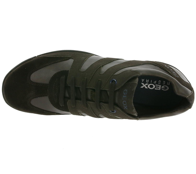GEOX U GARLAN A Véritable sneaker en cuir pour hommes Marron U743GA 0ME22 C6346 KV8yt