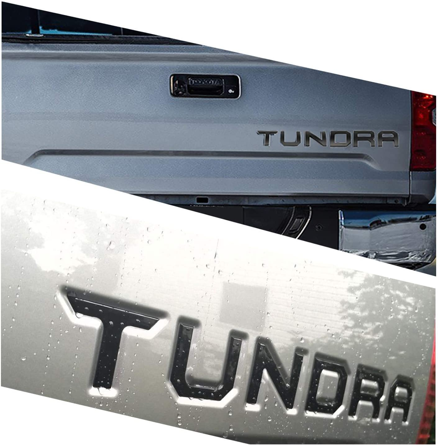 Tailgate Insert Letters for Tundra 2014-2020 Special 3D Raised Zinc Alloy Rear Emblem Black