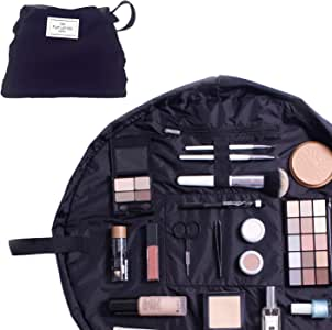 The Flat Lay Co. Makeup Bag   Drawstring Open Flat Cosmetics Travel Case   Contents Not Included