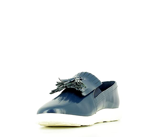 What For Mocasines Azules con Suela Blanca, T. 40: Amazon.es: Zapatos y complementos