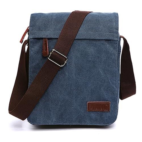 Outreo Bolsos Bandolera Vintage Messenger Bag Maletines para Hombre Bolso Bolsas de Viaje Tela para Laptop Colegio Bolso Mujer Escolares Sport Casual