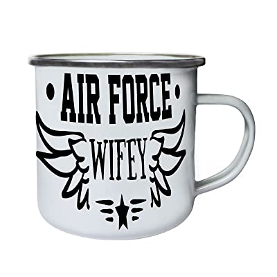 Épouse de l'armée de l'air Rétro, étain, émail tasse 10oz/280ml bb175e